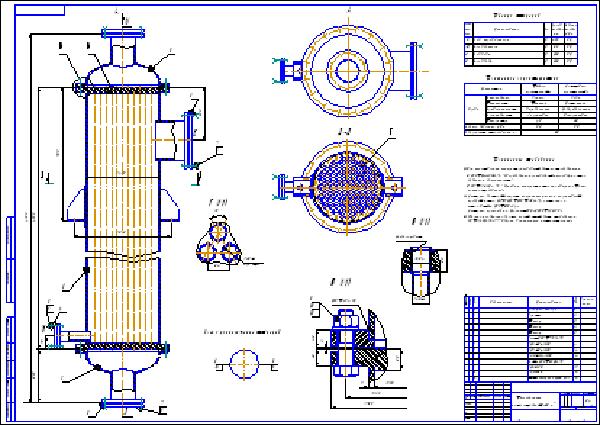 Кожухотрубный теплообменник чертеж f 105 м теплообменник какая амортизационная группа