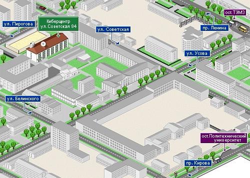 Расположение Института Кибернетики
