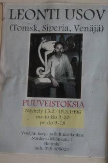 Helsenki. Finland. 1996. Woodcarving.