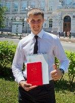 Потапов Александр - лучший студент-куратор ЭНИН  2014 г.