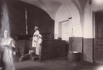 Кухня столовой ТПИ, 1945 год